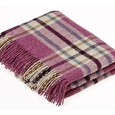 Bronte Abraham Moon Throw / Blanket Arncliffe Berry Shetland 100% Wool
