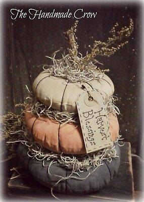 Handmade Primitive Fall Stacked Pumpkins