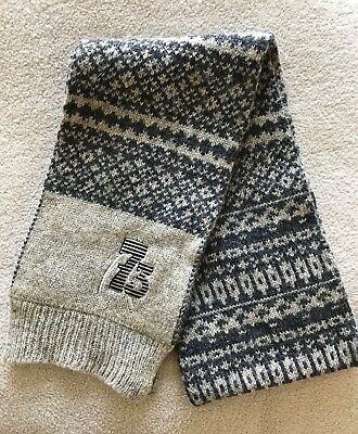 Monsoon boys' grey and blue scarf size 3-6 years