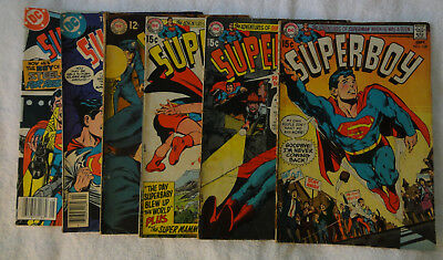 Superboy lot 151, 166, 167, 168, New Adventures of # 4, 41 Silver Age lot