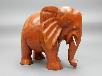 Large Hand Carved Hard Wood  Elephant from Ghana 12 inches