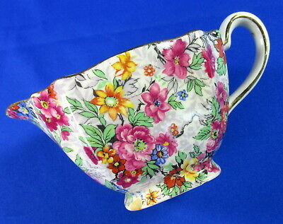 Lord Nelson Marina Square Creamer Cream Pitcher Elijah Cotton Chintz Floral 3346