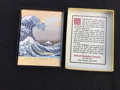 ANTIOCH BOOK PLATES - SET OF 50 - The Great Wave