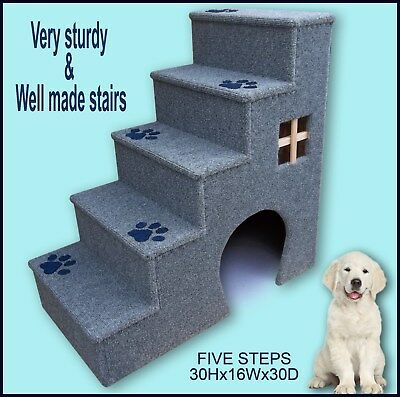 30 inches tall wooden dog steps, pet stairs. Dogs steps, Doggy stairs.