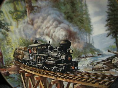 """Timber Country """"The Age of Steam"""" Forth of the Series By Thedore A. Xaras Plate"""