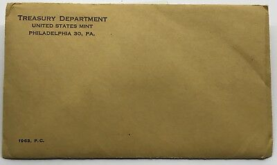 1963 United States Mint Proof Set Rare Sealed Envelope 90% Silver Birth Year