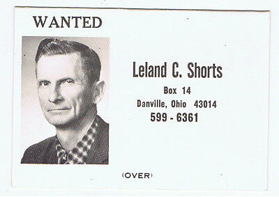 Vintage Leland Shorts Knox County Commissioner Ohio Political Campaign Brochure