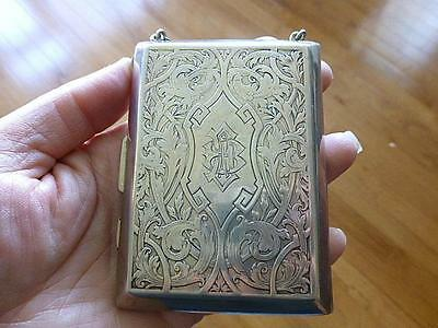 Victorian Wm Kerr Sterling Silver Purse Coin Holder & Compact Chatelain 5.7oz