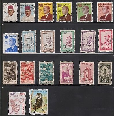 (U37-2) 1960-80s Morocco mix of 20 stamps valued to 20P (B)