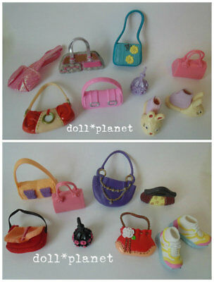 14 Purses Runners Bunny Slippers - MY SCENE BARBIE DOLL ACCESSORIES LOT C