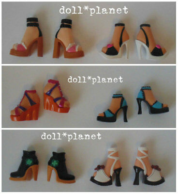 6 pairs of Shoes - MY SCENE BARBIE DOLL ACCESSORIES LOT B