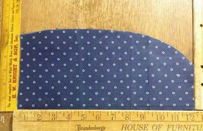 Antique Indigo Blue White Circles Fabric Scrap Piece 12.5 x5.5 x3