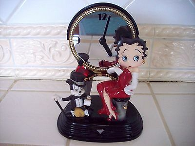 """The Frankling Mint Betty Boop """"Party Time Clock"""" Porcelain"""