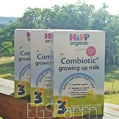 3 Boxes of HiPP Organic Combiotic Growing Up Milk - Stage 3- 600g - Ships Free