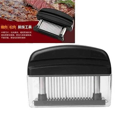 Meat Steak Tenderizer 48 Ultra Sharp Stainless Steel Needle Blades Tools Kitchen