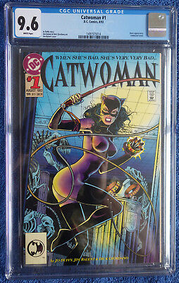 Catwoman #1 CGC 9.6 White pages  -  Jim Balent! Bane! First issue! Embossed!