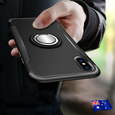 For Apple iPhone 8 XS 7 5 6 Plus 360° Ring Shockproof Protective Hard Case Cover