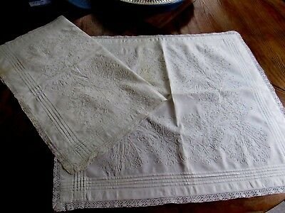 Antique Victorian Layover Pillow Shams