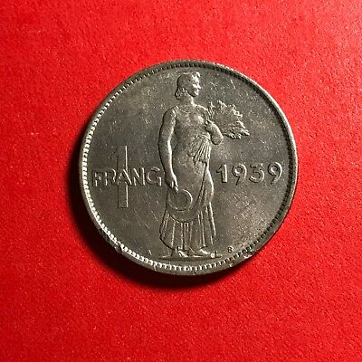 1939 Luxemburg 1 Frang world foreign coin great condition