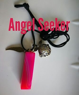 00616 ANGEL SEEKER Onyx Infused Necklace Doreen Virtue Certified Practitioner