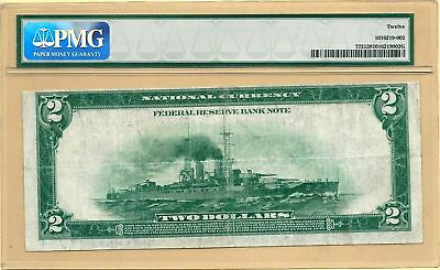 1918 $2 BATTLESHIP FEDERAL RESERVE BANK NOTE (MINNEAPOLIS) - PMG FINE 12  Fr#772