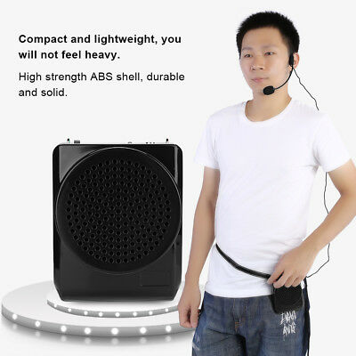 Portable Mini Waistband Microphone Voice Booster Loud Amplifier Teaching Speaker