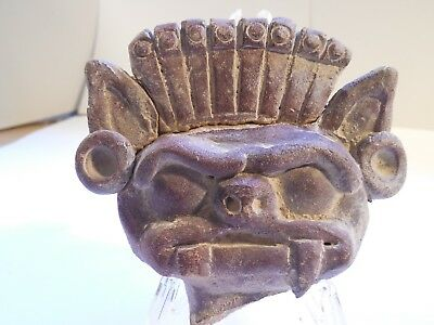 Large Teotihuacan Bat God Pre-Columbian Antiquity Ancient Artifact Olmec Mayan
