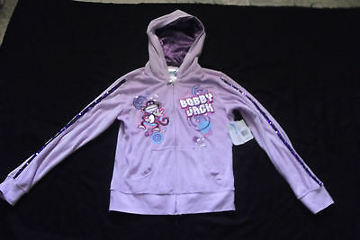 Bobby Jack Velour Soft Mauve Hoodie Youth Size X-Large (14-16) - Nwt