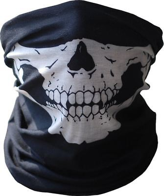 2x Call of Duty Ghost Skull Half Face Bandana Skeleton Ski Motorcycle Mask Scarf