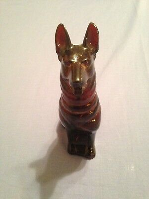 Vintage Avon German Shepard Dog Nobel Prince Decanter Great For Any Collector!