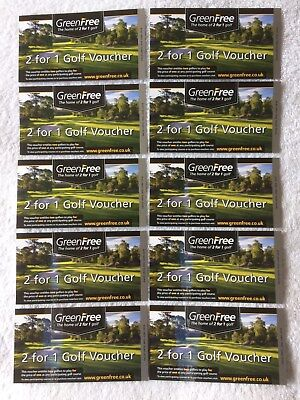 GREENFREE  2 for 1 golf voucher - valid to 30th June 2018
