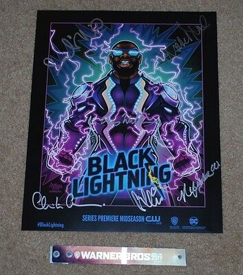 Sdcc 2017 Exclusive Wb Cw Dc Black Lightning Signed Poster