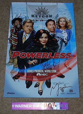 Sdcc 2016 Nbc Dc Comics Powerless Tv Series Signed Poster