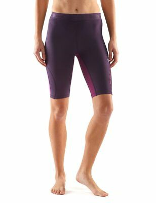 SKINS Womens DNAmic Women's Fitness Exercise Compression 1/2 Tights Shorts Haze