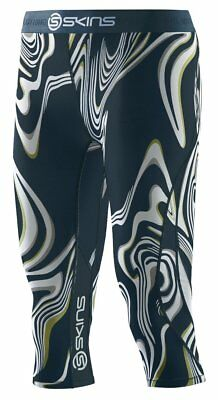 SKINS Womens DNAmic Fitness Exercise Compression 3/4 Capri Tights Living Lines