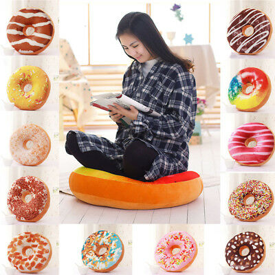 3D Soft Pillow Cover Cute Plush Donut Home Decor Cushion Pillowcase Xmas Gifts