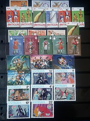 K237. ANTIGUA. LOT TIMBRES NEUFS mnh. 3 PAGES