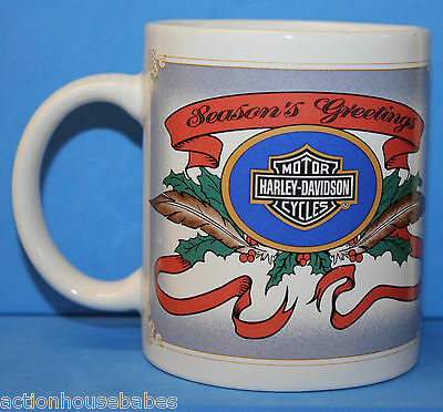 Harley-Davidson Motorcycles - SEASON'S GREETINGS 1995 COFFEE MUG / CUP - Santa