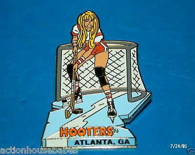 Hooters Hot Hockey Goalie Girl Ga Pin