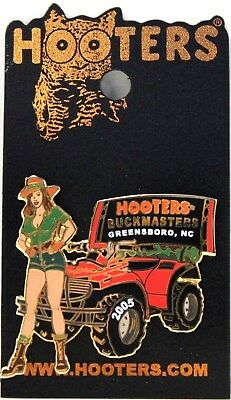 Hooters Restaurant Girl Greensboro Nc North Carolina Buckmasters Lapel Pin