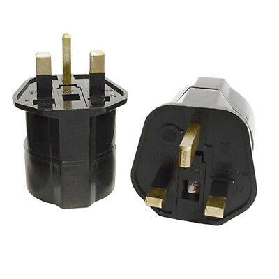 European 2 Pin to UK 3 Pin Plug Adaptor Euro EU Travel Mains Adapter