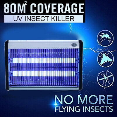 Electric Home Restaurant Insect Mosquito Pest Fly Killer Bug Zapper Trap UV-A