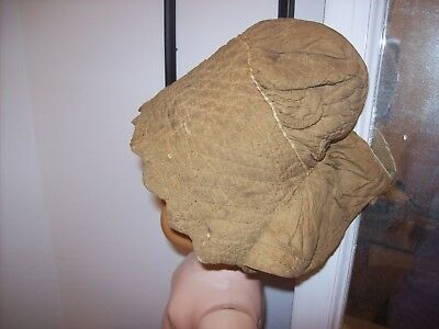 Antique Baby or Baby Doll Bonnet or Hat Primitive 1800 Brown