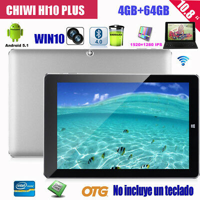 4GB+64GB 10.8'' CHUWI Hi10 Plus Tableta 3G WIFI Windows10 + Android5.1 Tablet PC