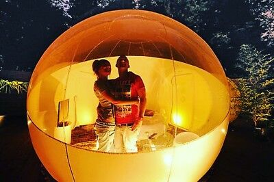 Garden Glamping - Inflatable Bubble Pod - Sleep Under The Stars