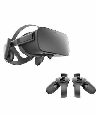 New Oculus Rift CV1 VR Headset and Touch Controllers BNIB 2yrs WNTY