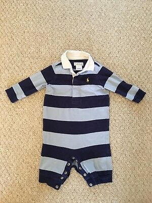 Authentic Ralph Lauren All In One Baby Boy Romper 3 Month excellent condition