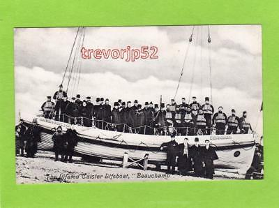 The Ill fated Caister on Sea Lifeboat Beauchamp Great Yarmouth unuse pc Papworth
