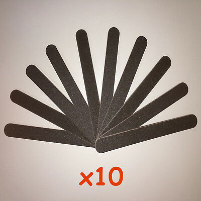 10x Double Sided 100/180 Grit Boomerang/Crescent straight Nail Files Emery Board