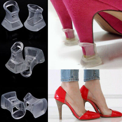 20pcs Clear Stiletto High Heel Protectors Covers Shoes Stoppers Petite S/M/L UK